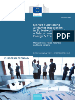 Market Functioning and Market Integration in EU Network Industries