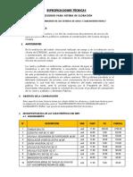 0016 - Especificaciones Tecnicas Accesorios Para Sistema de Cloracion