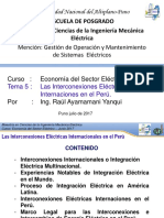 Proyectos de Interconexiones Eléctricas Internaciones en El Perú 2017
