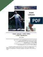 On André Lefevere