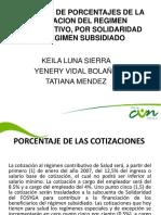Traslado de Porcentajes de La Cotizacion Del Regimen