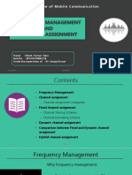 Frequency management and Channel Assignment