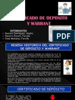 Comercial CERTIFICADO DE DEPOSITO Y WARRANT