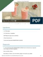 Agua de Coco y Fresa _ Recetas Nestlé
