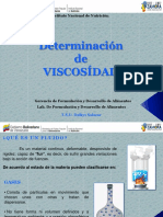 Determinación de VISCOSÍDAD
