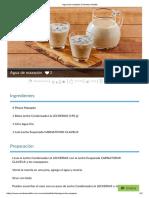 Agua de Mazapán _ Recetas Nestlé
