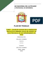 Plan de Trabajo - UNAP