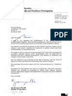 Letter on Coburg Education Taskforce From Minister Pike to Jane Garrett