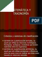 SISTEMÁTICA Y TAXONOMÍA