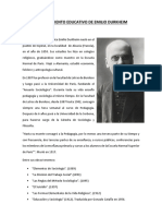 El Pensamiento Educativo de Emilio Durkheim