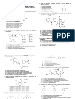 Examen Parcial de Química Orgánica UPCH