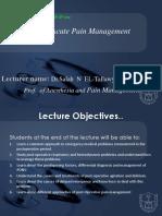Acute Pain Managent