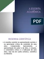 A Escrita Acadêmica - Resenha