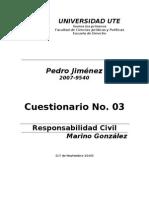 rio No.3 Responsabilidad Civil