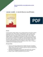 Antoine Albalat - A Arte de Escrever em 20 Lições - Resumo.docx
