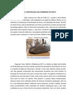 HISTÓRIA DAS CONSTRUÇÃO DAS PIRÂMIDES DO EGITO.docx