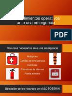 Procedimientos Operativos Ante Emergencias