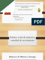 1° SEMANA- BALANCE DE MATERIA Y CANTIDAD DE MOVIMIENTO