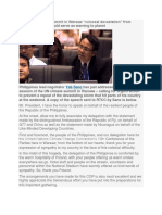 UN Climate Change Speech