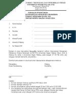 Formulir Lkmm Tm Untuk Delegasi Ukm