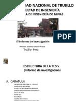 Instructivo, Informe de Tesis
