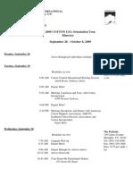 09 CCI COTTON USA Orientation Tour Itinerary & Participants