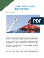 Empregos Do Futuro Estão Na Energia Renovável