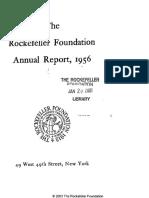 1956 Rockefeller Foundation Report