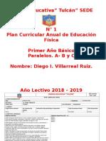 Planificacion Anual de E.F.   2018 - 2019 +++