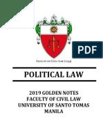 Golden Notes - Political Law