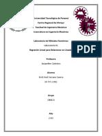 Laboratorio #2 de Métodos Numéricos - Regresión Lineal Para Relaciones No Lineales