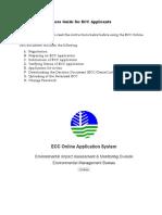 Ecc Online Guide for Applicants
