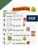 Receita Bolo de Milho