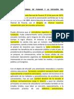 La Escuela Normal de Paraná y La Difusión Del Normalismo