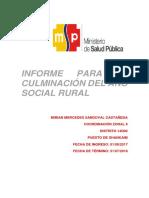 informe de rural