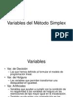 Variables Del Metodo Simplex