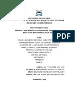 Rol de los padres de familia en el control de las tareas escolares de los estudiantes de básica elemental de la escuela de básica completa fiscal  José Martínez Queirolo.docx
