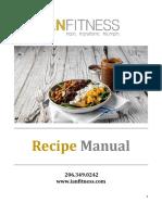 2019 Recipe Manual