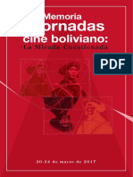 Mary Carmen Molina y Sergio Zapata (Eds.) - Memoria de las Jornadas de Cine Boliviano 'La Mirada Cuestionada'