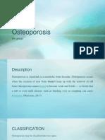 Kelompok 6 Osteoporosis