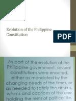 2. Evolution of the Philippine Constitution 1