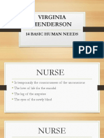 Virginia Henderson 14 Basic Human Needs