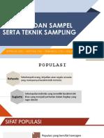 Populasi Dan Sampel Serta Teknik Sampling Ppt