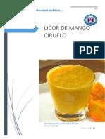 Licor de Mango Ciruelo Oficial