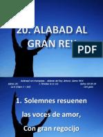 20 Alabad Al Gran Rey