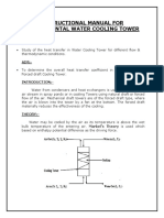 Instructional Manual for Cooling Tower (Heat Transfer)
