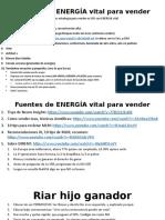 Fuentes de Energía VITAL Jurgen Clarick Para Vender Bien