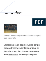 Smilodon - Wikipedia Bahasa Indonesia, Ensiklopedia Bebas