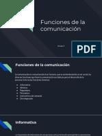 funciones de la comunicacion