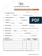 Belize Water Services Limited Application Form